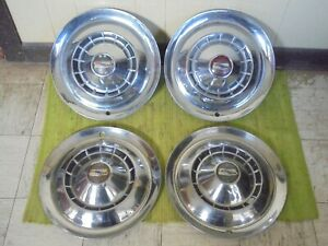 1954 Chevrolet Hub Caps 15 Set Of 4 Wheel Covers 54 Hubcaps
