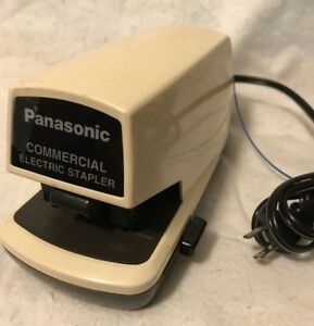 Panasonic Commercial Electric Stapler Model As 300n Tested And Working 25 Sheet