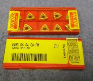 Sandvik Carbide Inserts Wnmg 332 Pm Grade 1525 Pack Of 10