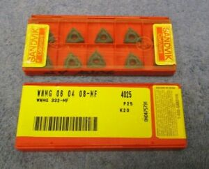 Sandvik Carbide Inserts Wnmg 332 Mf Grade 4025 Pack Of 10