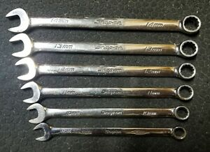 Snap On Soexm 6pc Metric Flank Drive Plus 9mm 14mm Wrench Set