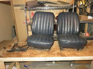 1970s Or 1980s Ford Bronco Low Back Bucket Seats Dark Blue Read