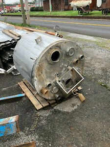 Stainless Steel Food Grade Jacketed Tank Approx 200 Gallons Used Good Shape