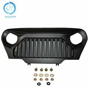 Front Mesh Gladiator Angry Monster Grille Black For 97 06 Wrangler Jeep Tj