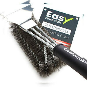 Easy Function Grill Brush And Scraper Safe 3 In 1 Bbq 1