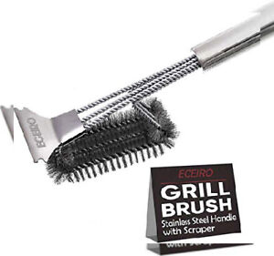 Grill Cleaner Brush And Scraper By Kitchen Perfection Stainless Steel