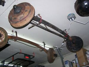 1940 S Ford Mercury Front Drop Axle With Brakes And Tie Rod