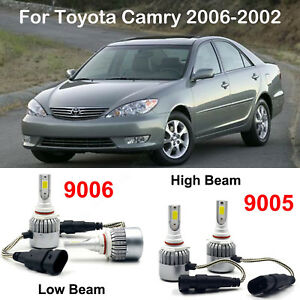 For Toyota Camry 2006 2002 9005 Hb3 9006 Hb4 Led Headlight Cree Power Bulbs