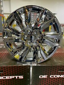 4 New 2019 Gmc Sierra Wheels 22x9 Chrome Oe 22 Silverado Denali Yukon Tahoe