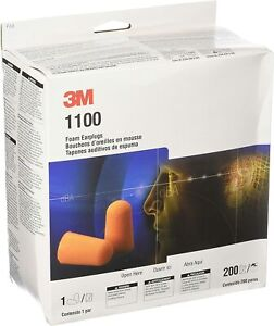 3m 1100 Foam Ear Plugs 200 pair