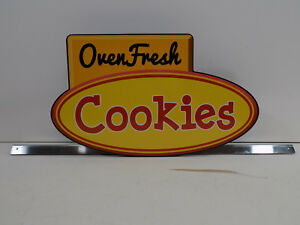New Oven Fresh Cookies Sign 18 High Quality Pvc Aluminum Stand See Pics