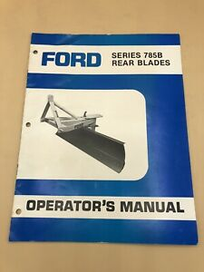 Ford New Holland Series 785b Rear Blades Operator s Manual Owners Service Book