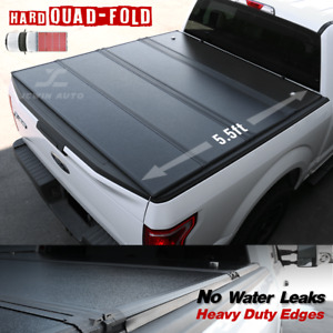 2014 2020 Tundra Hard Quad fold Tonneau Cover Waterproof Aluminum 5 5ft Bed