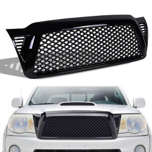 Fits 05 11 Toyota Tacoma Front Bumper Grille Black Honeycomb Mesh Style Grile