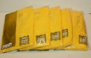 Hooded Coverall Xl Yellow Pack Of 5 Ansell 68 2300 Microchem 2300 New Sealed