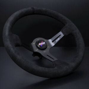 Dnd Universal Steering Wheel Alcantara Race Black 350mm 75mm Arw Blk