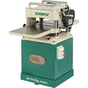 Grizzly G1021z 15 3 Hp Planer W Cabinet Stand