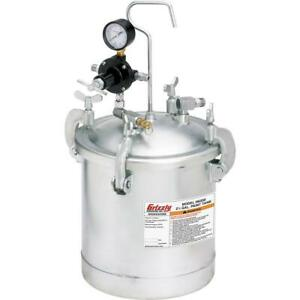Grizzly H6330 2 1 4 Gal Paint Tank