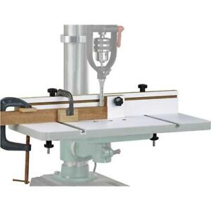 Grizzly H7827 23 3 4 X 11 7 8 Drill Press Table With 3 Fence