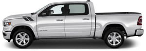 Hood To Fender Hash Vinyl Graphic Decal Stripes For Dodge Ram 1500 2019 Up
