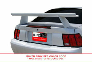 Wt 14189p Wing Tech Painted Cobra High Style Rear Spoiler No Light