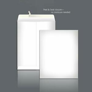 New Catalog Mailing Envelopes Peel Seal 9x12 Inch White 100 pack 28 Pound