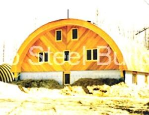 Durospan Steel 42x30x17 Metal Quonset Hut Home Building Open Ends Factory Direct