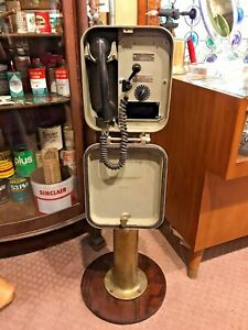 Vintage Henschel Corporation Ship Phone Bell Box With Brass Stand
