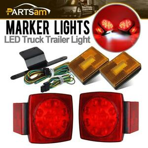 12v Led Submersible Stop Turn Tail Light Kit For Under 80 Boat Trailer Truck Rv