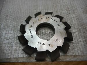 National No 4 5dp 26 34t Involute Gear Cutters Hss