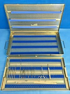 15 Piece V Mueller Jarit Storz Special Eye Procedure Tray W Case Ophthalmology