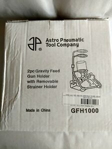 Hvlp Gravity Feed Paint Spray Gun Stand With Strainer Holder Wall Or Bench Mount