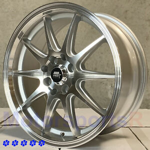 Mst Mt41 16 X 7 38 Silver Machine Wheels 4x100 89 93 01 Acura Integra Gsr Ls Rs