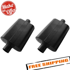 Flowmaster 942545 Universal Super 44 Mufflers 2 5 Center In Out Set Of 2