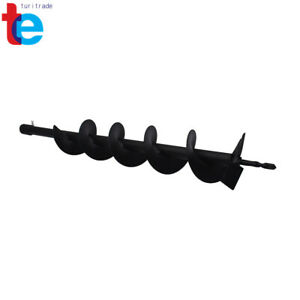 4 Earth Auger Drill Bits For Gas Powered Post Fence Hole Digger Cast Steel