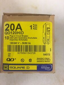 Square D Qo120hid Circuit Breakers Lot Of 10ea Nos