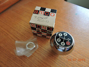 Nos Amco Shift Pattern Knob Alfa romeo Chrome Shifter Ball 8131 43 4 speed 16mm
