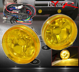 Universal 3 5 Yellow Lens Driving Head Fog Lights Lamps Cars Bike Motorcycle