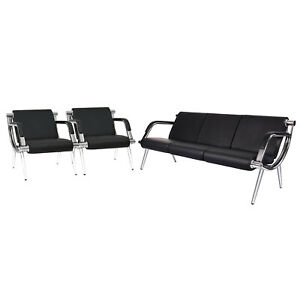 Pu Leather Office Reception Chair Waiting Room Visitor Guest Airport Sofa Seat