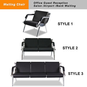 Waiting Room Office Chair Reception Pu Leather Airport Guest Sofa Seat 3 Style