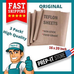 3 Reusable Teflon Transfer Sheets Heat Press Non Stick Iron Resistant Craft Cook