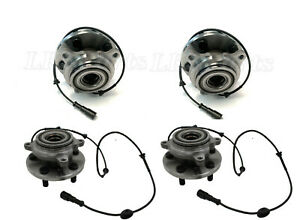 Land Rover Discovery 2 Front Rear Wheel Bearing Hub W Abs Sensor Set X4 New