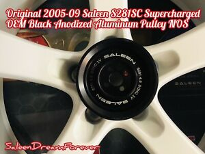 2005 09 Saleen S281 Sc Supercharged Mustang Oem Black Anodized Pulley Ford 281