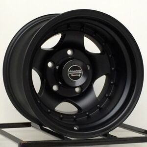 15 Inch Black Wheels Rims Chevy Gmc Truck 5 Lug 5x5 American Racing Ar23 15x10