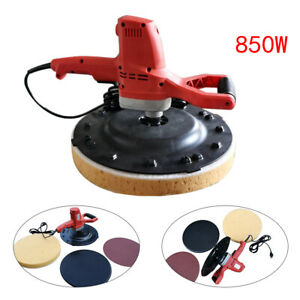 Cement Mortar Polishing Machine Hand held Electric Concrete With Sponage Plate