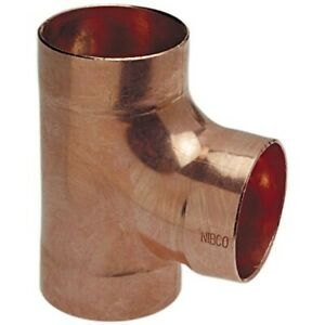 Nibco Reducing Tee wrot Copper 2 X 1 1 2 X 1 1 2 New In Box