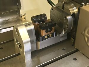 Moresidefixture Trunnion For Haas Hrt160 4th Axis Gets You 5 Axis Indexing