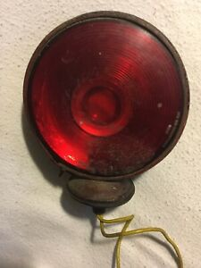 Vintage Dietz 180 Light W Red Stratolite Lens Untested rat Rod