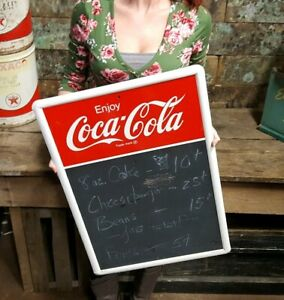Vintage Coca Cola Advertising Menu Board Sign
