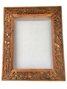 Antique Hand Carved Wooden Oriental Frame With Dragons Circa 1910 20